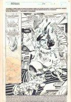 Avengers #370 p.1 - Action Splash - 1994  Comic Art
