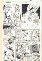 Avengers #370 p.14 - Dragona saves a Child from the Flame Pit - 1994  Comic Art