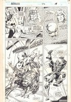 Avengers #370 p.17 - Sersi, Karkas, Ransak the Rehectk, and Kingo - 1994  Comic Art