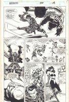 Avengers #370 p.18 - Sersi and Kingo Action - 1994 Signed Comic Art