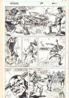 Avengers #370 p.27 - Toro Rojo Action - 1994 Signed Comic Art