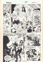 Avengers #370 p.29 - Avengers Hercules and Captain America Floating - Sersi - 1994 Signed Comic Art