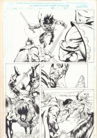 Conan: Flame and the Fiend #1 p.7 - Conan Action - 2000 Signed Comic Art