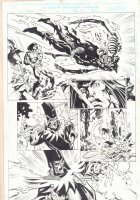 Conan: Flame and the Fiend #3 p.17 - Conan Action and the Devourer of Souls Action - 2000 Signed Comic Art