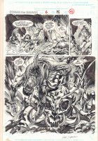 Conan the Savage #6 p.41 - Crazy Demonic Kill Splash - 1996 Comic Art