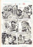 Conan the Savage #6 p.47 - Conan Nearly Beheaded End Page - 1996 Signed Comic Art