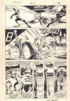 Daredevil #203 p.3 - Daredevil Action - 1984 Signed Comic Art