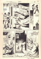 Daredevil #203 p.18 - Daredevil Intimidating Thuds in Hell's Kitchen - 1984 Signed Comic Art