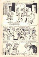 Dazzler #34 p.12 - Millie's Models Backstage- 1984 Signed Comic Art