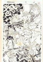 Fantastic Force #9 p.20 - Psi-Lord (Franklin Richards) Origin Splash - Human Torch - 1995 Signed Comic Art