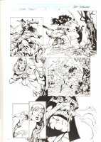 Conan: Flame and the Fiend #3 p.11 - Isparana Action - 2000 Signed  Comic Art