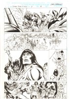 Conan: Flame and the Fiend #3 p.14 - Conan and Natives - 2000 Signed  Comic Art