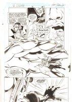 Doctor Strange, Sorcerer Supreme #42 p.17 - Doctor Strange, Nova, and Galactus - 1992 Signed Comic Art
