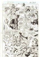 Doctor Strange, Sorcerer Supreme #43 p.16 - Doctor Strange, Galactus, and Alice in Wonderland Caterpillar - 1992 Signed Comic Art