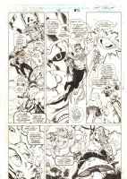 Doctor Strange, Sorcerer Supreme #43 p.26 - Doctor Strange, Galactus, Nova, and Alice in Wonderland Caterpillar - 1992 Signed Comic Art