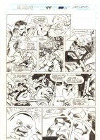 Doctor Strange, Sorcerer Supreme #44 p.27 - Doctor Strange, Galactus, Silver Surfer, and the Juggernaut - 1992 Signed Comic Art