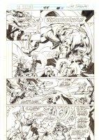 Doctor Strange, Sorcerer Supreme #44 p. 28 - Dr. Strange, Juggernaut, & Nova Action vs. Galactus - 1992 Signed  Comic Art