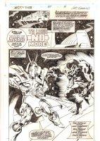 Thor #457 p.24 - Heimdall Rainbow Bridge 'To Love No More' Title Splash - 1992  Comic Art