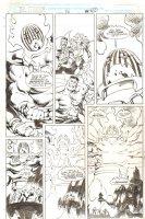 Doctor Strange, Sorcerer Supreme #50 p. 42 - Dr. Strange, Hulk, Silver Surfer (Secret Defenders First App.) and Clea vs. Dormammu - 1993 Signed Comic Art