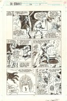 Doctor Strange, Sorcerer Supreme #55 p.9 - Baron Mordo and Dormammu - 1993 Signed Comic Art