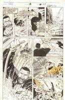 Cage #8 p.29 - Luke Cage, Iron Man, USAgent, and Wonder Man - 1992 Signed Comic Art