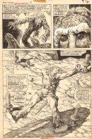Giant-Size Man-Thing #3 p.7 - Cool Man-Thing - Korrek Splash - 1975 Comic Art
