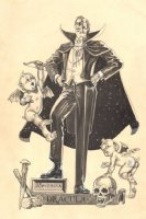 Dracula Commission w/ Demon Cupids (11 x 17 Comic Art