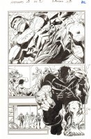Avengers #28 p.21 - Hulk, Captain America, Iron Man, Hawkeye, and Black Panther - Blue Line art of Walt Simonson - 2012 Comic Art