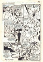 All-Star Squadron #50 p.29 - Plastic Man, Phantom Lady, & Uncle Sam - 1985 Signed Comic Art