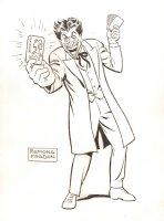 The Joker with Playing Cards Sketch - Signed Comic Art