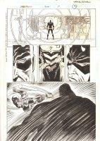 Daredevil #345 p.9 - Cool Dardevil Radar Action 1/2 Splash - 1995  Comic Art