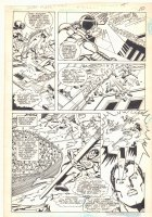Super Powers #4 p.9 - Superman, Wonder Woman, and Cyborg Action - 1986 Comic Art