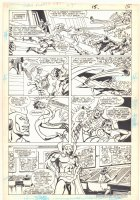 Super Powers #4 p.12 - Firestorm, Plastic Man, and Mr. Miracle - 1986 Comic Art