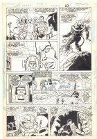 Super Powers #2 p.17 - Superman, Mr. Freeze, Tyr, and Mr. Miracle Action - Kirby's 4th World - 1986 Comic Art