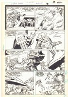 Super Powers #2 p.14 - Mr. Freeze and Tyr Action vs. Robots - Kirby's 4th World - 1986 Comic Art