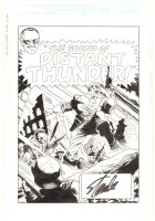 T-Bolts Flashback #1 p.1 - ''The Sound of Distant Thunder!'' Title Splash - Signed by Stan Lee Comic Art