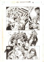 Birds of Prey #18 p.17 - Black Canary watches someone get attacked - 2000 Comic Art