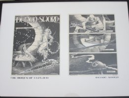 The Horns of Elfland - First and Last Page of the Story Demon Sword - 1979 Signed Comic Art