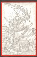 Carnage Defeats Spider-Man Pencil Commission - 2008 Signed Comic Art