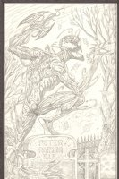 Carnage over Peter Parker's Grave Pencil Commission - 2007 Signed Comic Art