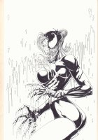 Harley Quinn / Venom Amalgam Limited Edition Self Published Cover Artwork - Signed Comic Art