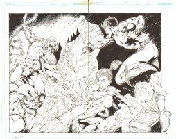 Grifter #11 pgs. 2 & 3 - Crazy Action vs. Synge DPS - 2012 Double Signed Comic Art