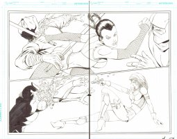 Notti & Nyce #1 pgs. 10 & 11 - Sexy Babes Action - 2013 Signed Comic Art