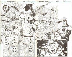 Booster Gold #38 pg 13 - Splash - DPS / Vs Nazis  Comic Art