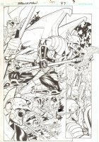 Hawkman #47 pg9 - Hawkman Battle Splash  Comic Art