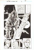 Last Days of Animal Man #6 p.20 - Great Starfire Splash - 2009 Signed Comic Art