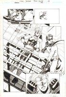 Robin #170 p.14 - Violet and Robin Splash - 2008 Signed Comic Art