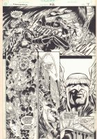 Deathstroke #52 p.7 - Hawkman Action - 1995 Signed Comic Art