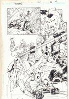 Hawkman #47 p.12 - Action Splash - 2006 Signed Comic Art