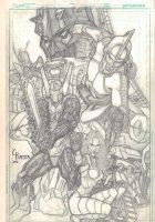 Miconauts? Pencil Cover - 2012 Signed Comic Art